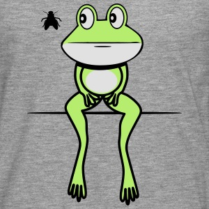 Frog funny fly sit T-Shirts - Men's Premium Longsleeve Shirt
