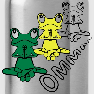 Frog meditation yoga relaxation pray T-Shirts - Water Bottle
