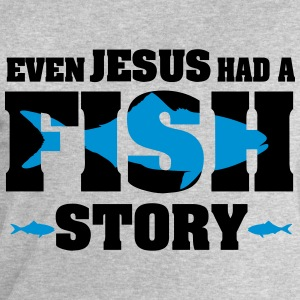 Even Jesus hat a fish story T-Shirts - Men's Sweatshirt by Stanley & Stella
