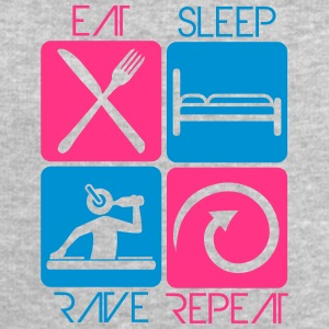 Party DJ Logo Design Eat Sleep Repeat Rave T-shirts - Mannen sweatshirt van Stanley & Stella