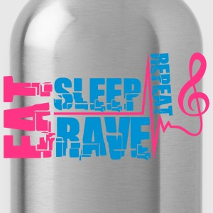 Eat Sleep Rave Repeat Clef Pulse T-Shirts - Trinkflasche