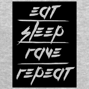 Eat Sleep Repeat Rave rectangle design T-Shirts - Men's Sweatshirt by Stanley & Stella