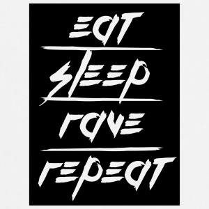 Eat Sleep Repeat Rave rectangle design T-Shirts - Cooking Apron