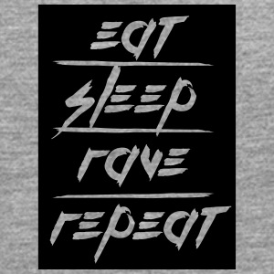 Eat Sleep Repeat Rave rectangle design T-Shirts - Men's Premium Longsleeve Shirt