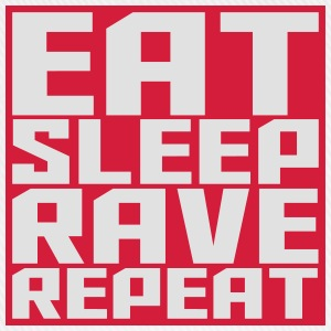 Eat Sleep Repeat Rave firkantet logo T-shirts - Baseballkasket