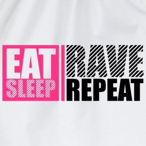 Eat Sleep Repeat Rave Party DJ Logo Design T-shirts - Gymtas