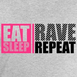 Eat Sleep Repeat Rave Party DJ Logo Design T-shirts - Mannen sweatshirt van Stanley & Stella