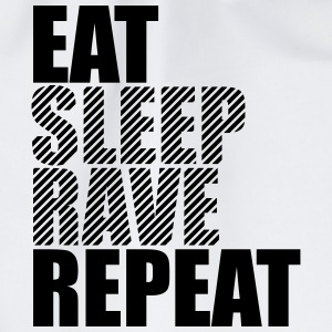 Eat Sleep Ripetere Rave Party DJ design Magliette - Sacca sportiva