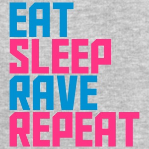 Eat Sleep Repeat Rave Party ontwerp T-shirts - Mannen sweatshirt van Stanley & Stella