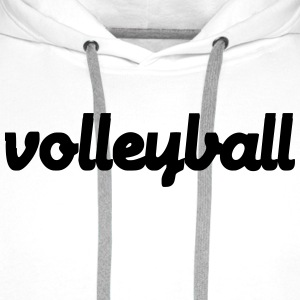 Volleyball Tee shirts - Sweat-shirt à capuche Premium pour hommes