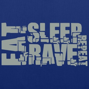 Eat Sleep Repeat Rave DJ Logo T-shirts - Tas van stof