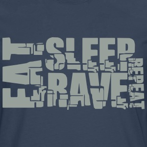 Eat Sleep Repeat Rave DJ Logo T-shirts - Mannen Premium shirt met lange mouwen