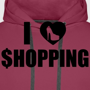 I Love Shopping T-Shirts - Men's Premium Hoodie