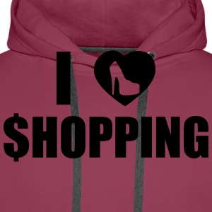 I Love Shopping Tee shirts - Sweat-shirt à capuche Premium pour hommes