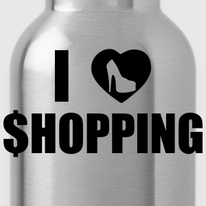 I Love Shopping T-Shirts - Water Bottle