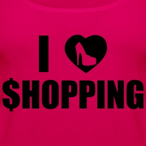 I Love Shopping T-skjorter - Premium singlet for kvinner