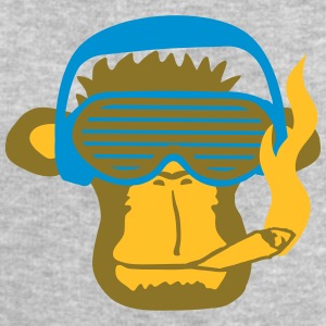 Party DJ music Smoking Weed Joint Monkey T-Shirts - Men's Sweatshirt by Stanley & Stella