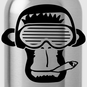 Party DJ music Smoking Weed Joint Monkey T-Shirts - Water Bottle