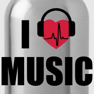 I love music headphone Odzież sportowa - Bidon