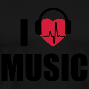 I love music headphone Tank Tops - Men's Premium T-Shirt