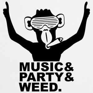 Party DJ Ape Weed mixte Music Fun Tee shirts - Tablier de cuisine
