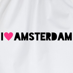 I Love Amsterdam - Drawstring Bag