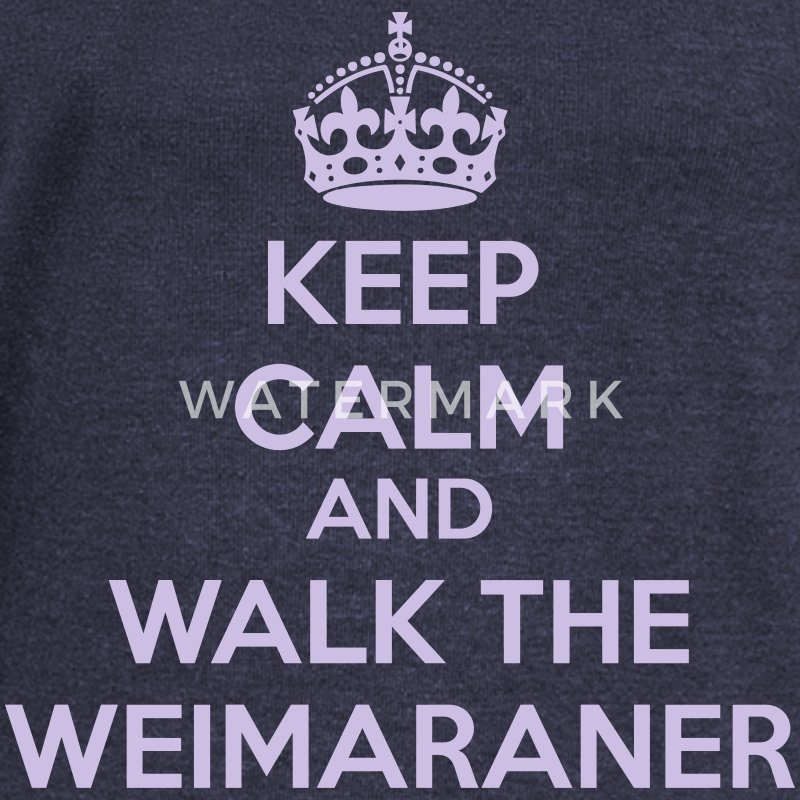 Keep Calm and Walk the Weimaraner Felpe - Felpa con scollo a barca da donna, marca Bella