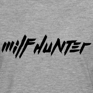 MILF Hunter Cool Text Design Camisetas - Camiseta de manga larga premium hombre