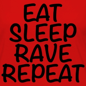 Eat, sleep, rave, repeat Tee shirts - T-shirt manches longues Premium Femme