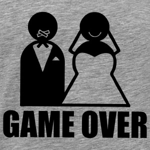 Game Over weeding Tank Tops - Männer Premium T-Shirt