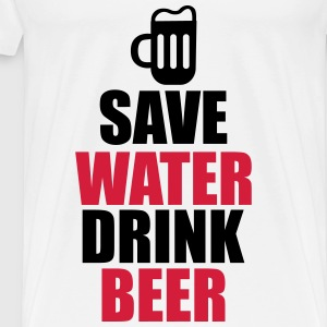 Alcohol Fun Shirt - Save water drink beer Tank Tops - Männer Premium T-Shirt