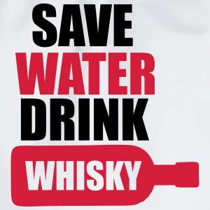 Alcohol Fun Shirt - Save water drink Whisky Tee shirts - Sac de sport léger