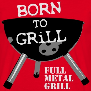 Born to Grill  Aprons - Men's T-Shirt