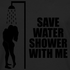 Save water shower with me Sportsklær - Premium langermet T-skjorte for menn
