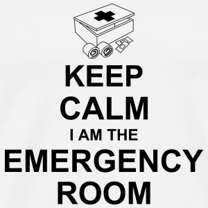 keep_calm_i_am_the_emergency_room_g1 Flaschen & Tassen - Männer Premium T-Shirt