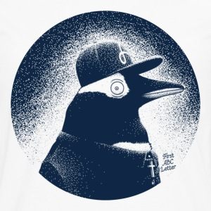 Vit Pinguin dressed in black T-shirts - Långärmad premium-T-shirt herr