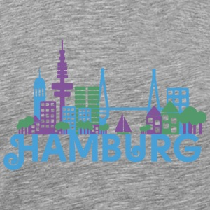 Skyline of Hamburg Tops - Men's Premium T-Shirt