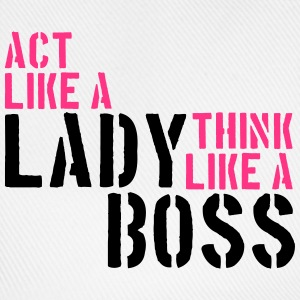 Cool Act like a lady think like a boss logo T-Shirts - Baseball Cap