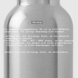 bluescreen (deutsch / german language) T-Shirts - Water Bottle