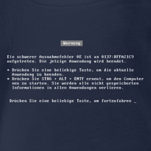 bluescreen deutsch T-Shirts - Baby Bio-Kurzarm-Body