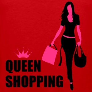 Queen Shopping Crown T-skjorter - Premium singlet for menn