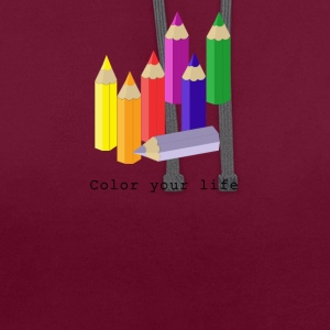 Color your life Long Sleeve Shirts - Contrast Colour Hoodie