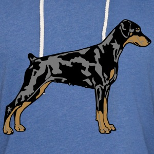 Dobermann Pinscher Dog Tee shirts - Sweat-shirt à capuche léger unisexe