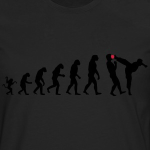 Evolution kicks ass - Männer Premium Langarmshirt