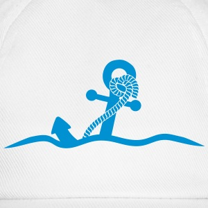 Anchor under water waves design T-Shirts - Baseball Cap