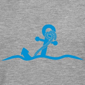 Anchor under water waves design T-Shirts - Men's Premium Longsleeve Shirt