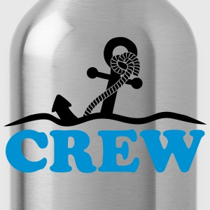 Anchor under water waves crew design T-Shirts - Water Bottle