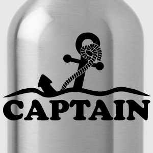 Anchor under water waves Captain design T-Shirts - Water Bottle