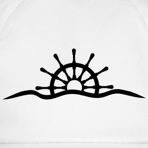 Steering wheel under water waves design T-Shirts - Baseball Cap