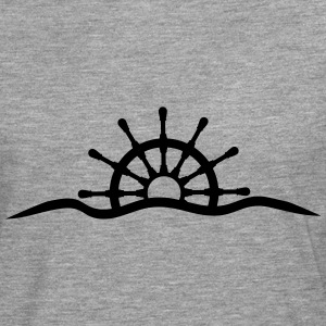 Steering wheel under water waves design T-Shirts - Men's Premium Longsleeve Shirt